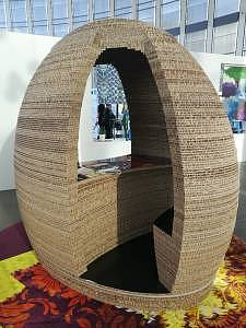 A giant cardboard booth...